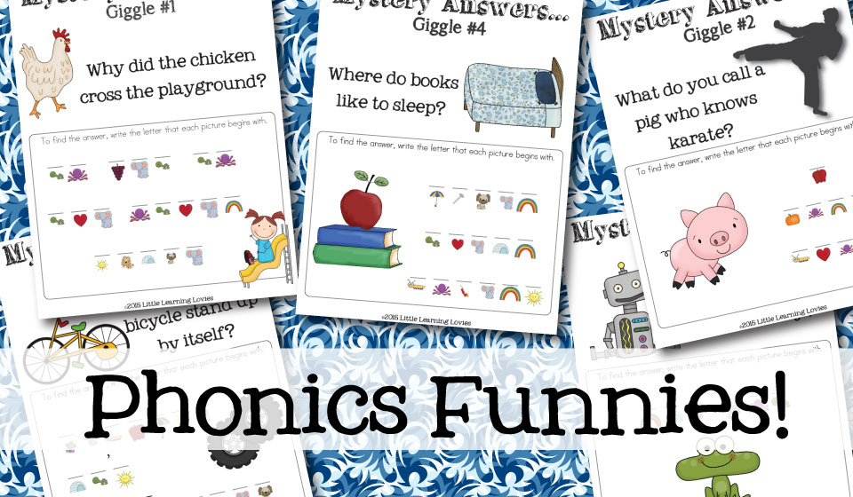 Phonics Funnies - A fun way to practice beginning letter sounds.