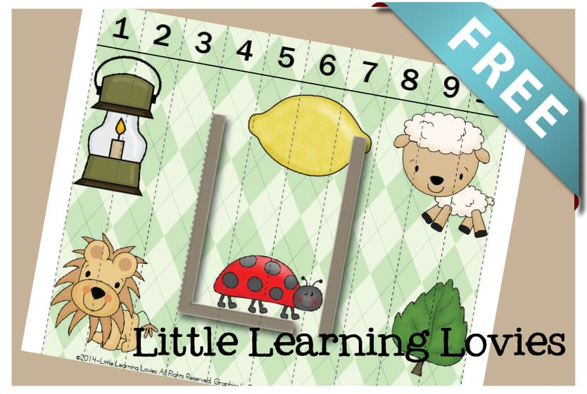 FREE Sounds Of L Puzzle teaches phonics, counting and more! FREE from Little Learning Lovies