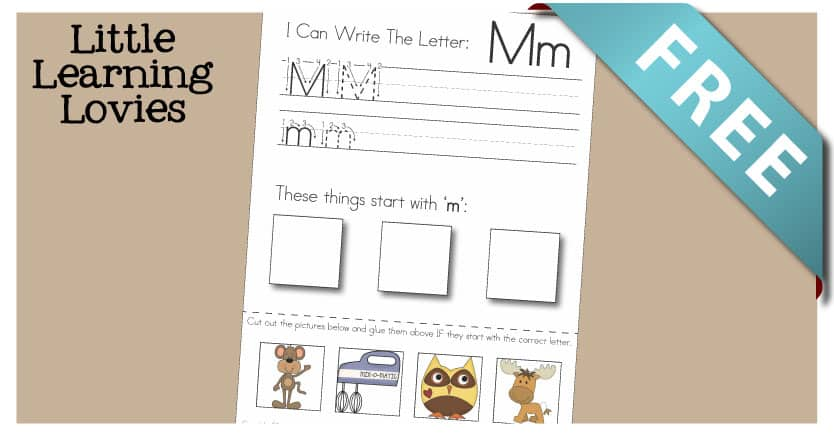 Write Cut And Paste activity for the letter M! So much learning happens on this one sheet... ENJOY!