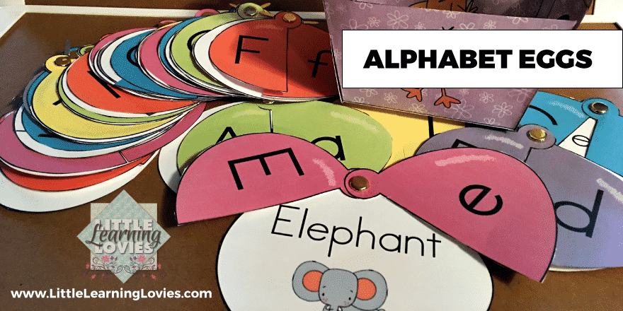 Alphabet Eggs help children learn letter shapes, phonics and so much more!