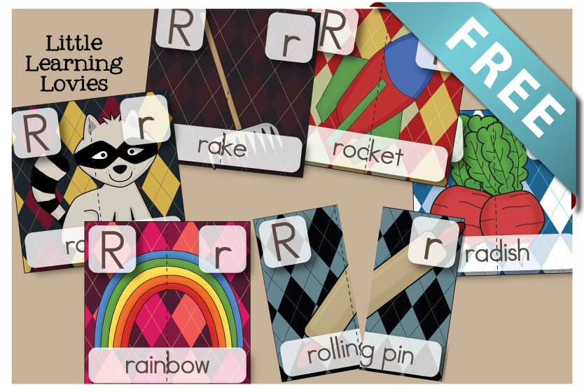 Letter R 2 Part Puzzles are FREE and a great way to talk about letter sounds, beginning sounds, segmenting words, and great vocabulary!