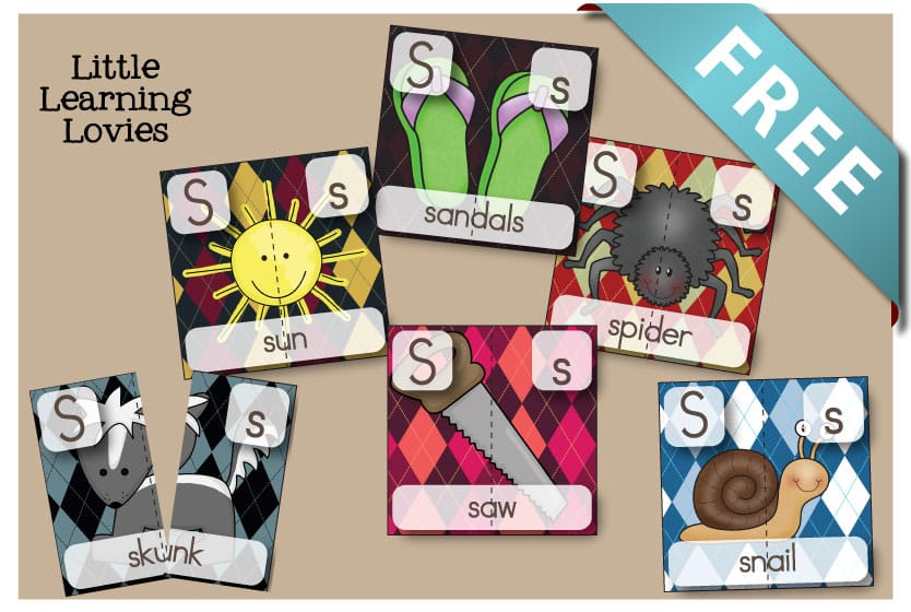 Letter S 2 Part Puzzles are FREE and a great way to talk about letter sounds, beginning sounds, segmenting words, and great vocabulary!