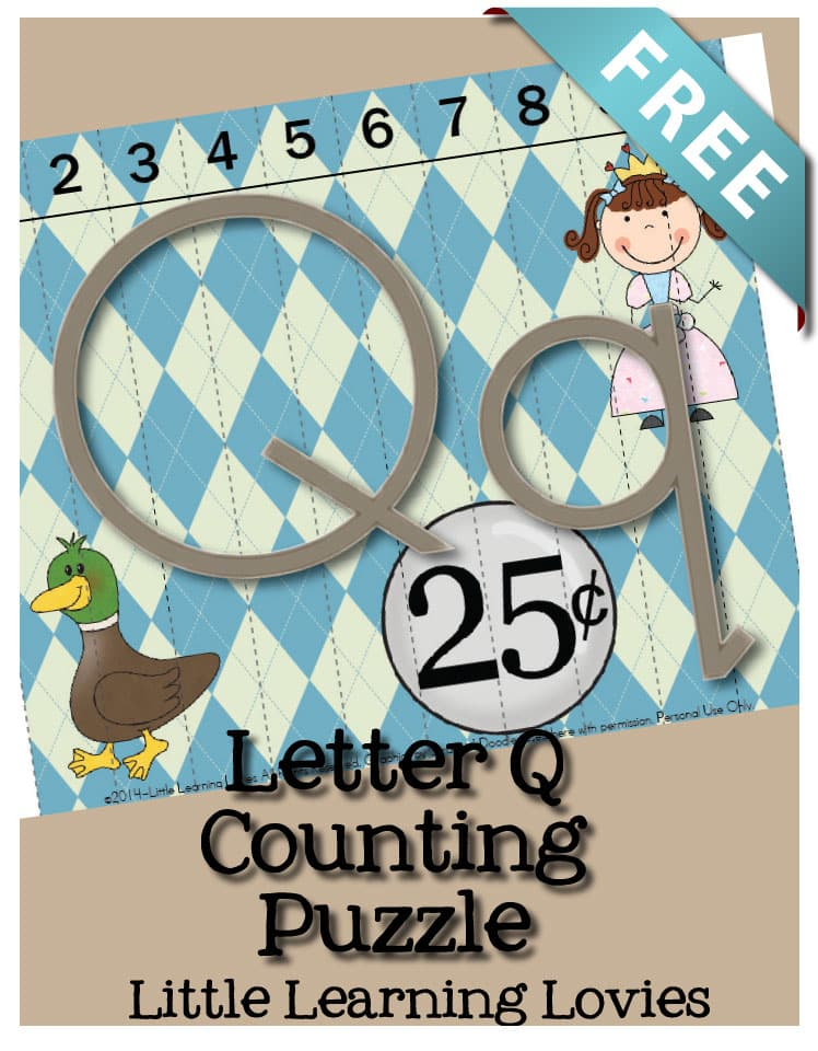 Sounds Of Q Counting Puzzle - Learn the Letter Q as you practice counting to 10 to assemble this FREE Letter Q Puzzle