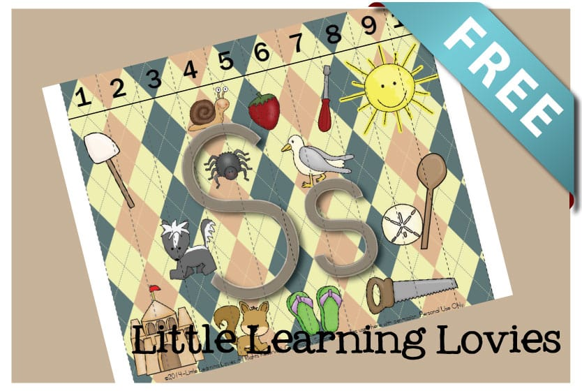 Sounds Of S Counting Puzzle - Learn the Letter S as you practice counting to 10 to assemble this FREE Letter S Puzzle
