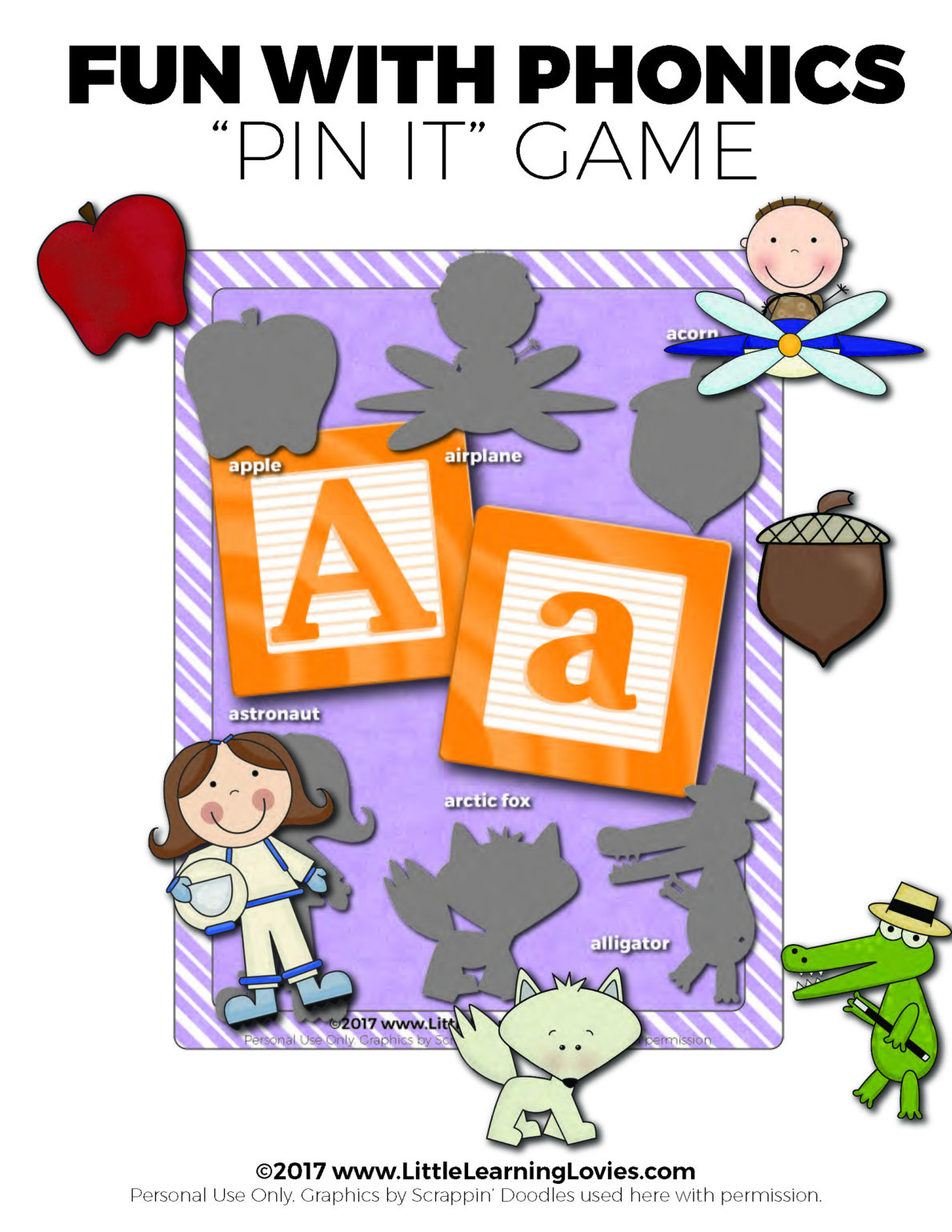 Pin It Phonics Game Free